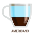 Coffee cups different cafe drinks americano vector image vector image