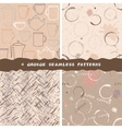 Collection of grunge coffee patterns vector image vector image