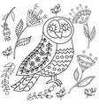 coloring book fol adults folk set blask vector image