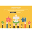 Concept Business Attraction of Investments vector image vector image
