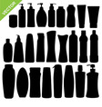 Cosmetics bottle silhouettes vector image vector image