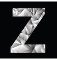 crystal letter Z vector image
