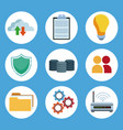 data center technology round icons vector image vector image