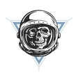 Dead astronaut in spacesuit vector image