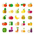 delicious ripe fruits and healthy oranic vector image