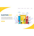 election day website landing page design vector image