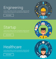 Engineering Startup Healthcare Flat Design vector image vector image