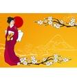 Geisha vector image