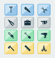 handtools icons set with bolt toolbox utility vector image vector image