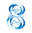 holiday card on womens day in march 8 vector image