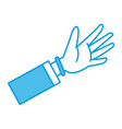human hand cartoon vector image vector image