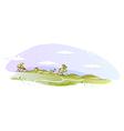 Idyllic landscape background vector image vector image