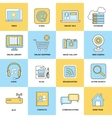 Internet Icons Flat Line vector image vector image