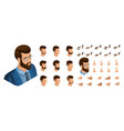 isometric create emotions for business man vector image vector image