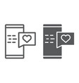 love message line and glyph icon chat and romance vector image vector image