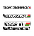 made in madagascar vector image vector image
