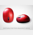 mouse realistic gradient mesh vector image vector image