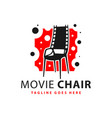 movie chair logo design vector image vector image