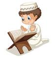 Muslim praying vector image vector image