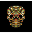 Ornate skull vector image
