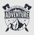 outdoor adventure vintage badge logo or emblem vector image