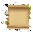 Parchment and plants vector image vector image