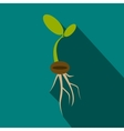 Plant sprout icon flat style vector image vector image