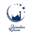 Ramadan Kareem design with mosque and moon vector image vector image