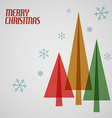 Retro Christmas card with christmas trees vector image vector image