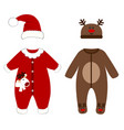 romper suit christmas costumes for children vector image