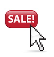 Sale Button Click vector image vector image