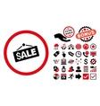 Sale Signboard Flat Icon with Bonus vector image vector image