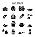 salt icon set graphic design vector image
