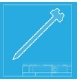 Screw sign White section of icon on vector image vector image