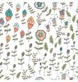 Seamless floral pattern springsummer vector image vector image