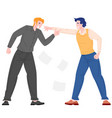 social bullying concept between office workers vector image