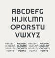 sport uppercase alphabet futuristic technology vector image