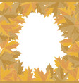 sticker autumn style yellow falling leaves vector image vector image