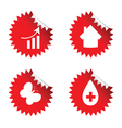 sticker red art vector image