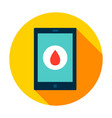 tablet blood circle icon vector image vector image