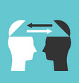 two heads exchanging thoughts vector image