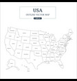 usa map outline high detail separated all states vector image