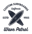 Vintage Surfing tee design Retro t-shirt Graphics vector image vector image