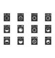 wash machine signs laundry icons set instruction vector image