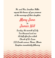 Wedding Invitation with zigzag elements vector image vector image