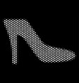 white dotted lady shoe icon vector image
