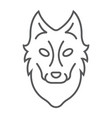 wolf thin line icon animal and zoo vector image vector image
