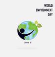 world environment day concept logo design vector image vector image