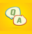 question and answer text in balloons graphic vector image