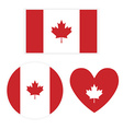Flag Canada on white background vector image